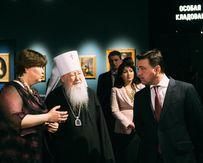 Губернатор Андрей Воробьев и митрополит Ювеналий приняли участие в открытии обновленной постоянной экспозиции русского искусства