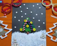 МАСТЕР-КЛАСС «Творим с детьми: новогодняя открытка»